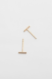 PAUZE atelier Rose Gold Earrings - Front cropped
