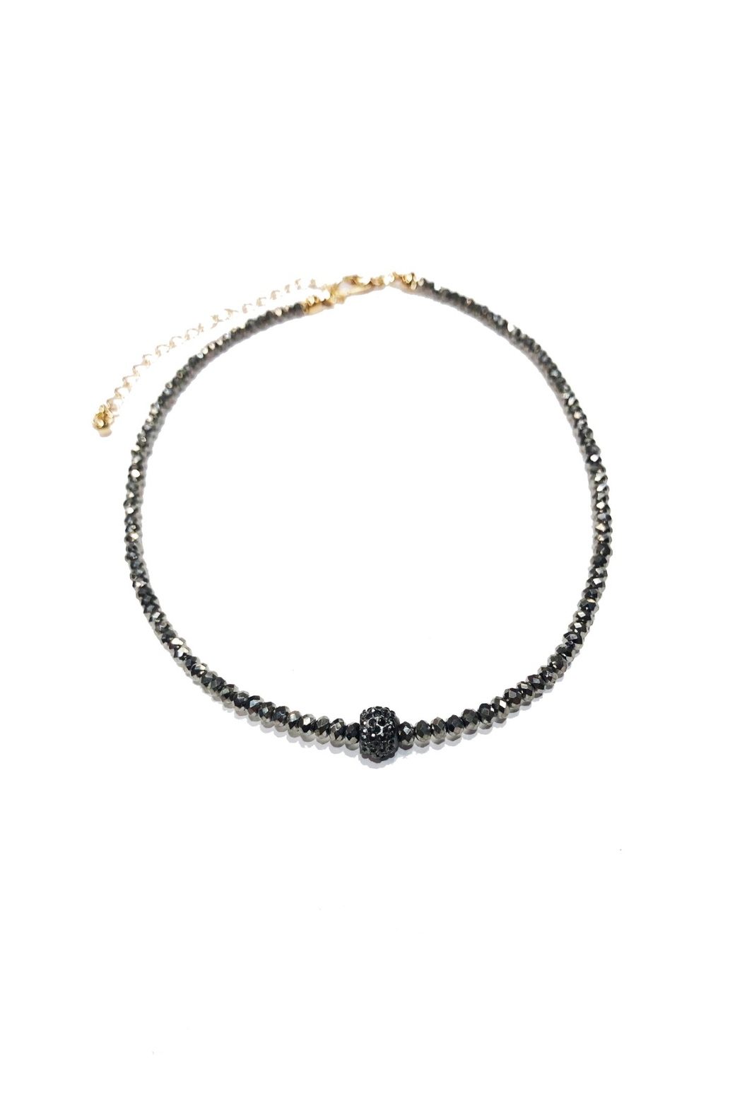 Lets Accessorize Pave Bead Choker - Front Cropped Image