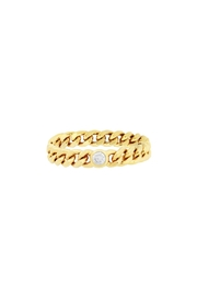 Five and Two Pave Chain Ring - Product Mini Image