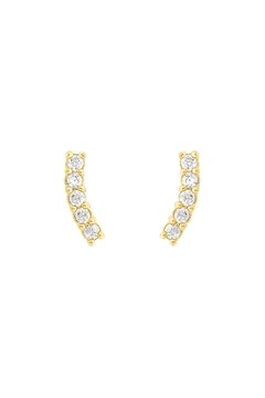 Five and Two Pave Climber Earrings - Alternate List Image