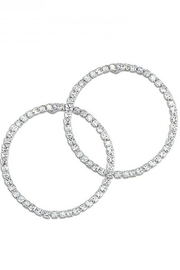 Periwinkle by Barlow Pave crystal frontal hoops - Product Mini Image