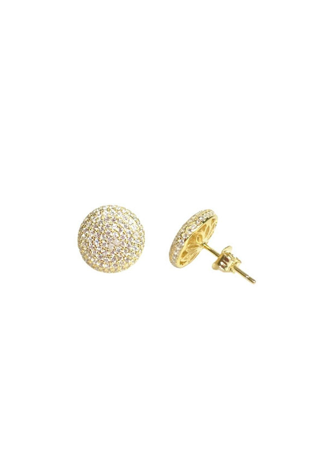 Wild Lilies Jewelry  Pave Crystal Studs - Front Full Image