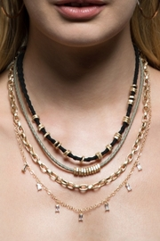 Urbanista Pave Crystal & Twisted Rope Necklace - Product Mini Image