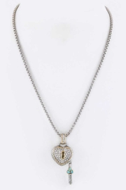 Nadya's Closet Pave Crystals Heart-Necklace - Product Mini Image