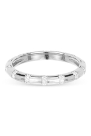 Adina Reyter Pave-Diamond Stripe-Band Ring - Product Mini Image