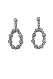 Lets Accessorize Pave Drop Earrings - Front cropped