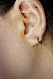 Pannee Jewelry Pave Ear Huggies - Front cropped