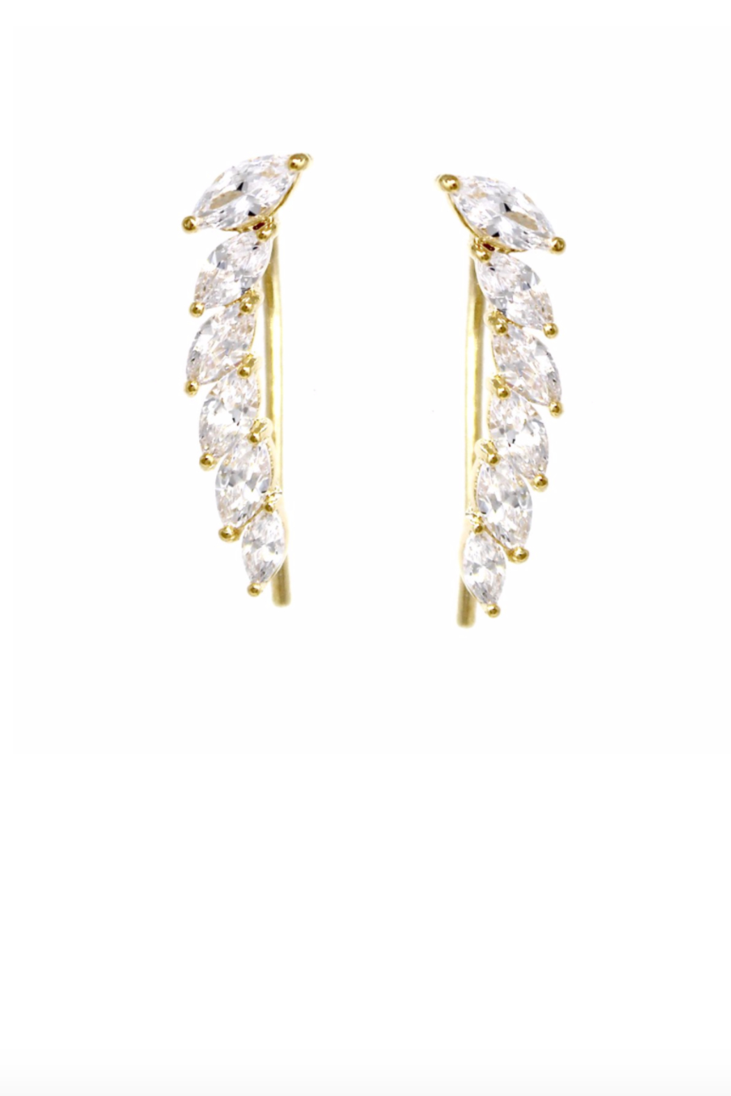 US Jewelry House Pave Gold Dipped Earrings - Main Image