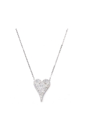 Lets Accessorize Pave Heart Necklace - Product Mini Image