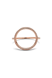 Puravida Pave Open Circle Ring - Front cropped