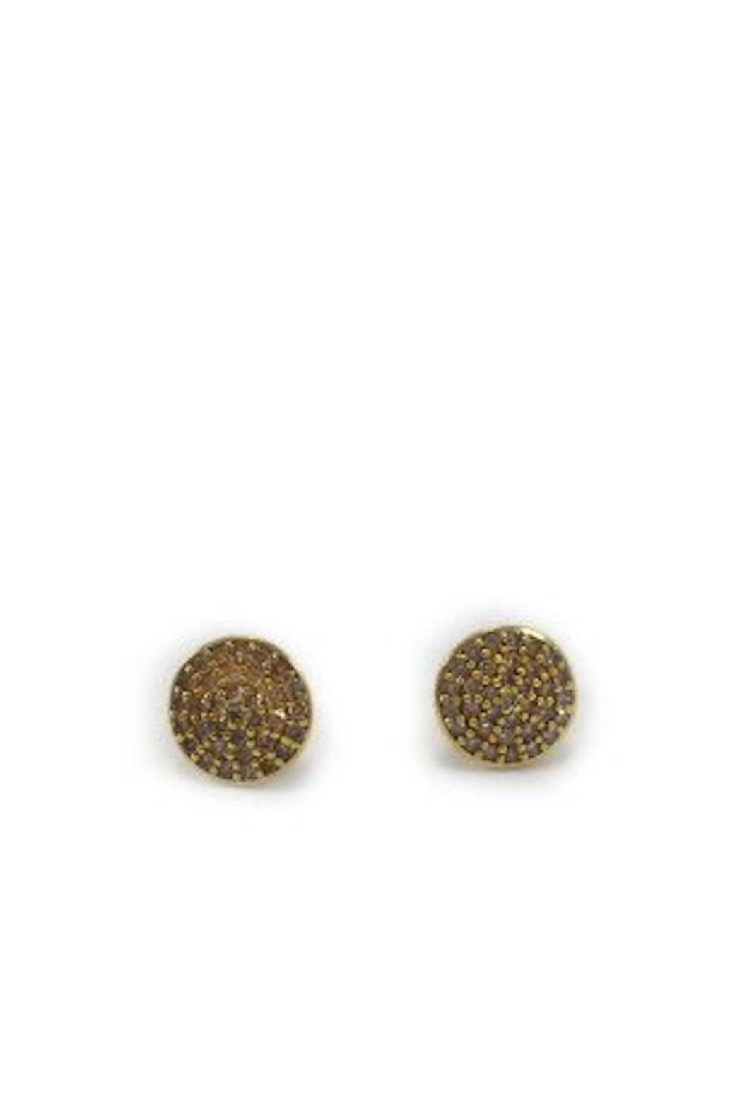 Arcatus Jewelry Pave Round Earrings - Front Cropped Image