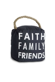 Pavilion Faith Family Friends Doorstop - Product Mini Image