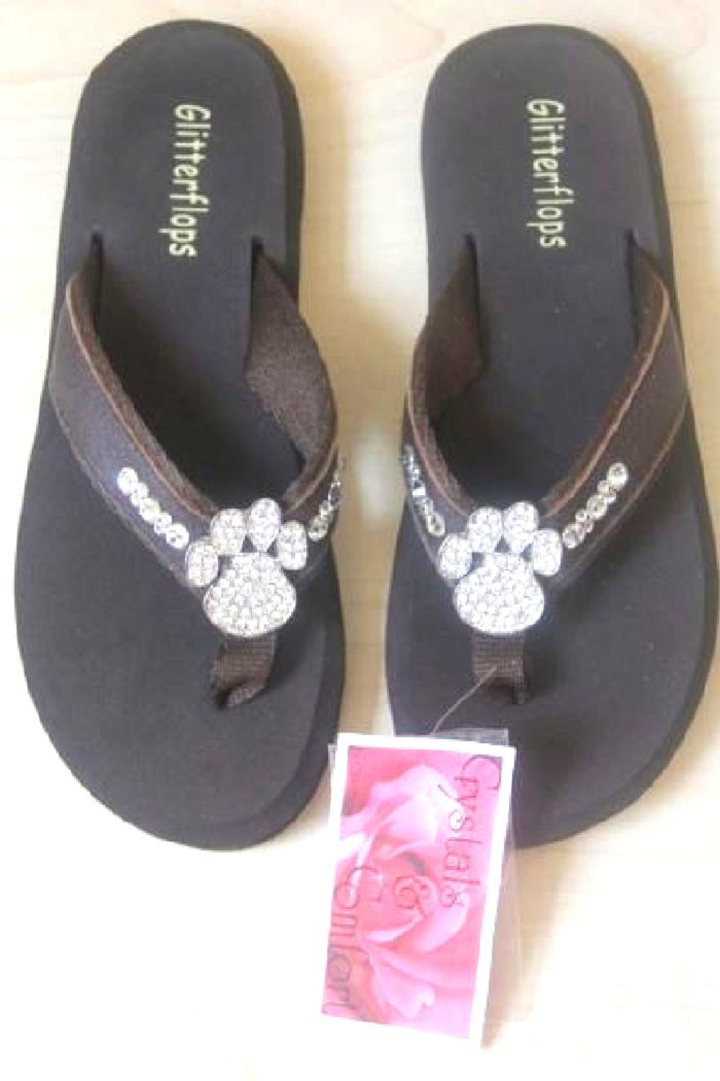 b3f3d897e Glitterflops Paw Crystal Flipflop from Texas by Rock2Royal Boutique ...