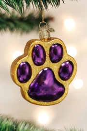 Old World Christmas Paw Print Ornament - Product Mini Image