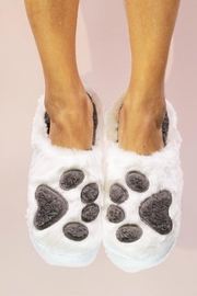 Face Plant Dreams Paw Print Slippers - Product Mini Image