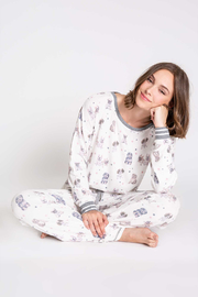 P.J. Salvage Pawfection Print Long Sleeve Pajamas - Front cropped
