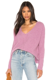 One Grey Day Paxton Pink Pullover - Product Mini Image