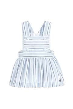Paz Rodriguez Blue Striped Pinafore. - Product List Image