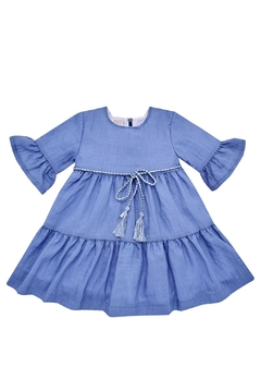 Shoptiques Product: Blue Tiered Dress.