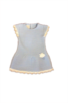 Paz Rodriguez Chalk Blue Dress - Alternate List Image