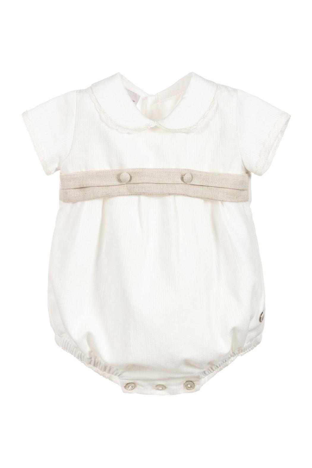 Paz Rodriguez Ivory Romper. - Front Cropped Image
