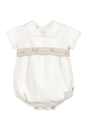 Paz Rodriguez Ivory Romper. - Front cropped