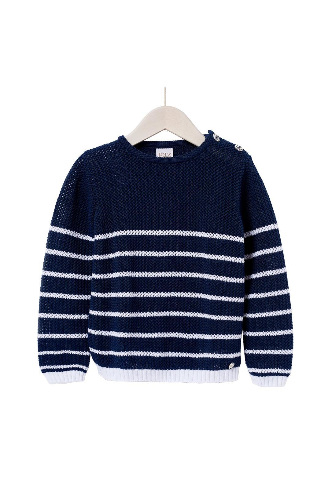 Paz Rodriguez Nautical Sweater. - Front Cropped Image