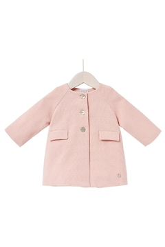 Paz Rodriguez Pink Woven Coat. - Product List Image