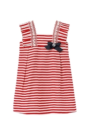 Paz Rodriguez Red Nautical Dress. - Front cropped
