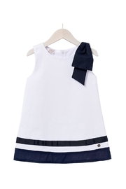 Paz Rodriguez White Nautical Dress. - Product Mini Image