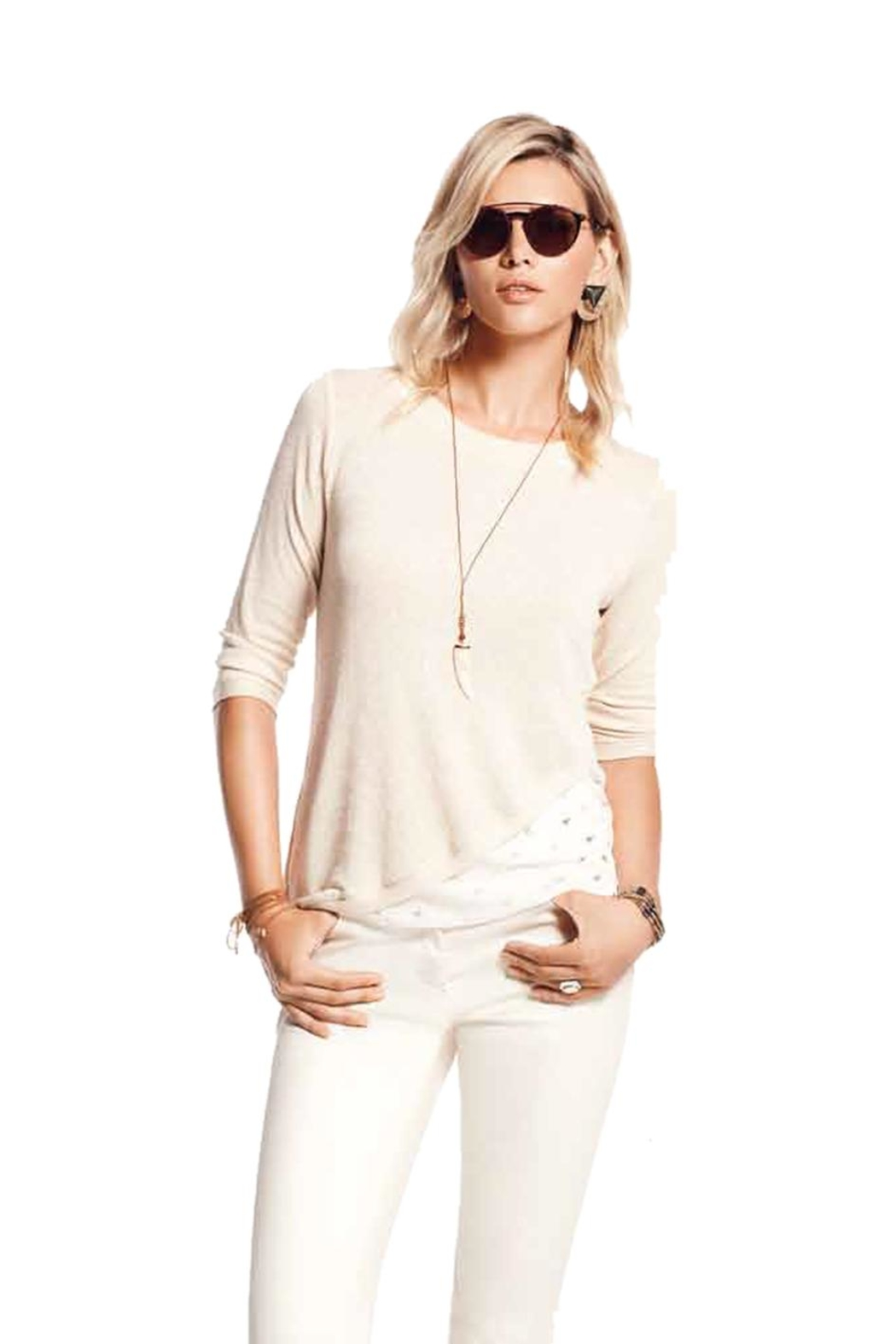 PAZ TORRAS Beige Top - Front Cropped Image