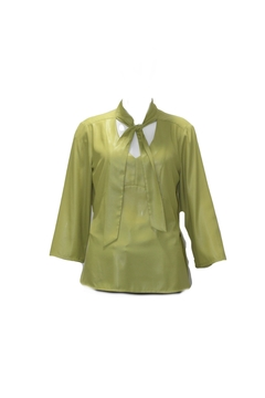 PAZ TORRAS Green Tie Blouse - Product List Image