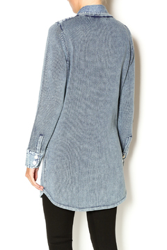 Shoptiques Product: Denim Tunic Cardigan
