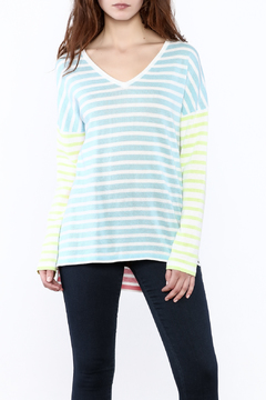 Shoptiques Product: Colorblock Striped Sweater