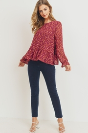 Paper Crane PC Tiered Chiffon Top - Front cropped