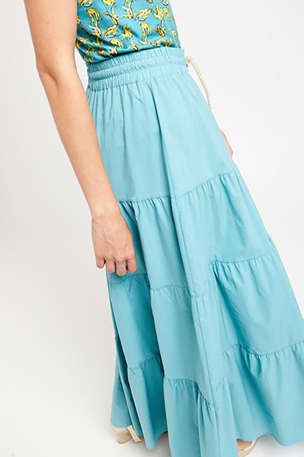Ottod'ame Pch Maxi Skirt - Front Full Image