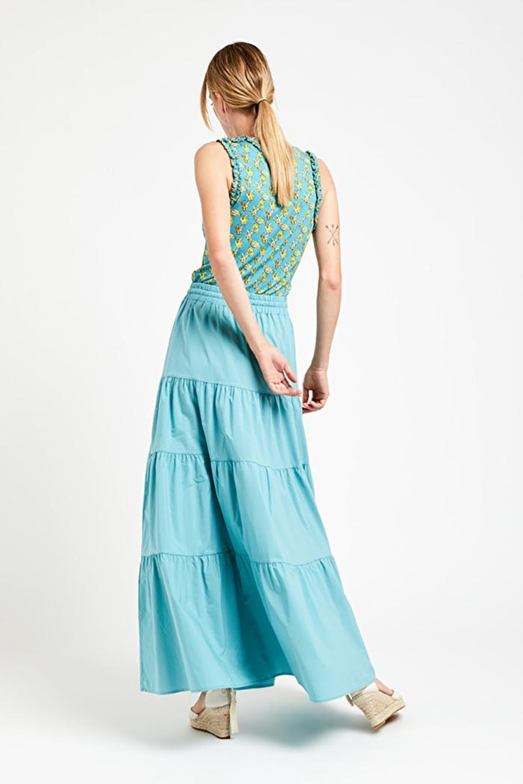 Ottod'ame Pch Maxi Skirt - Side Cropped Image
