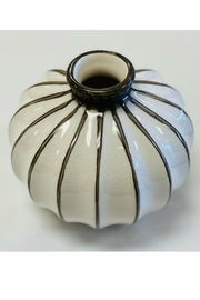 PD Home and Garden White Ball Vase - Front cropped