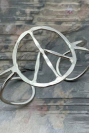 Anju Handcrafted Artisan Jewelry PEACE BLT CUFF - Front cropped