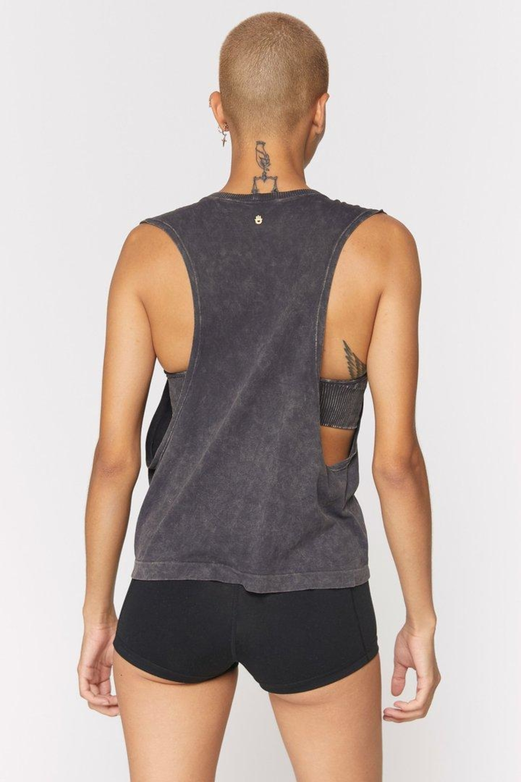 Spiritual Gangster  Peace Galaxy Active Flow Top - Front Full Image