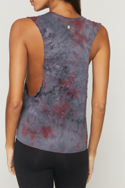 Spiritual Gangster  Peace Galaxy Active Flow Top - Front full body