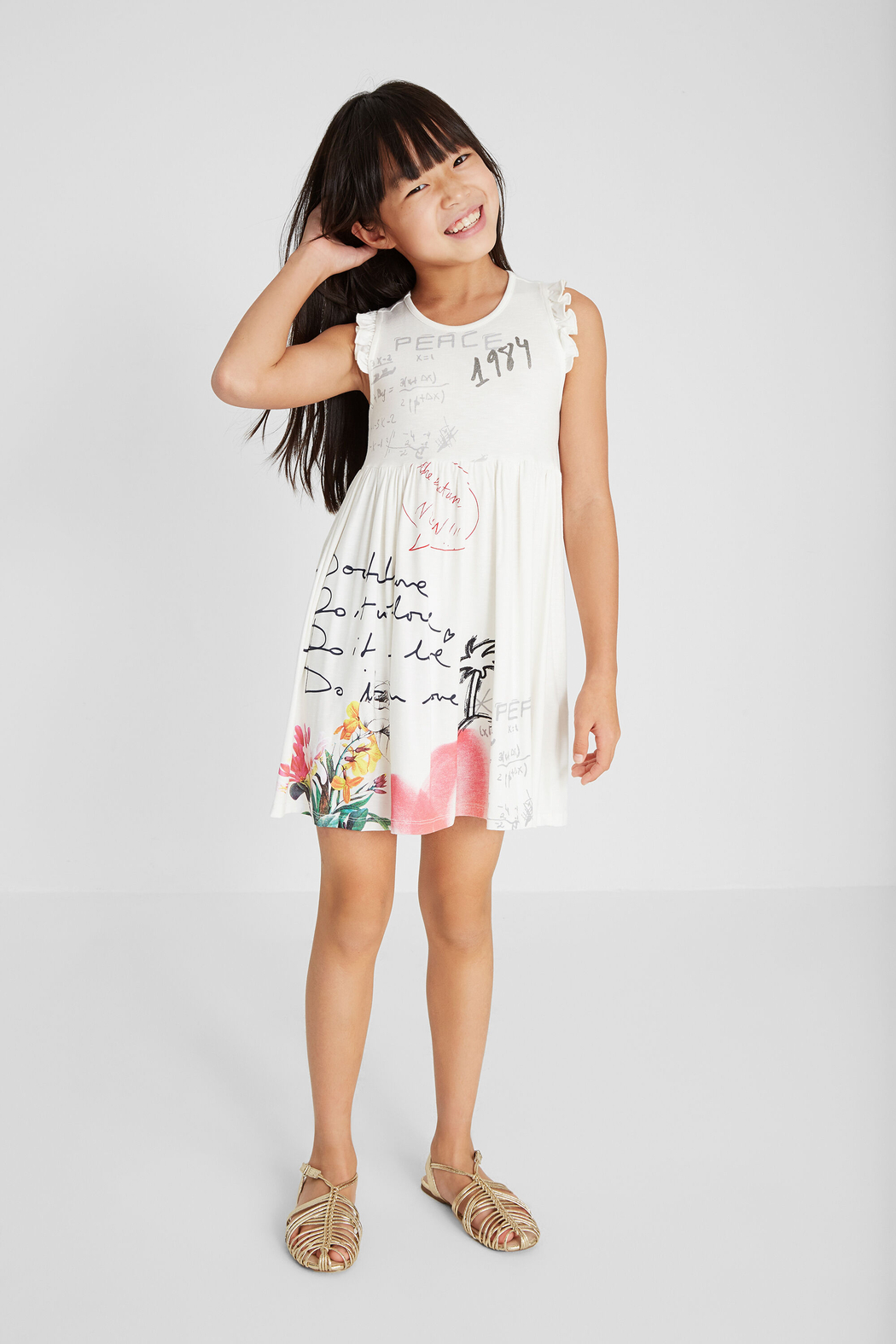 Desigual  Peace Love and Palms Dress - Side Cropped Image