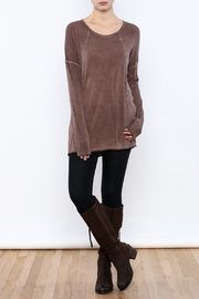 Peace Love California Knit Long Sleeve Top - Front full body