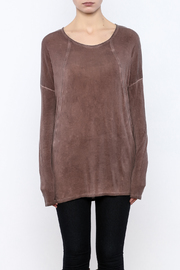 Peace Love California Knit Long Sleeve Top - Side cropped