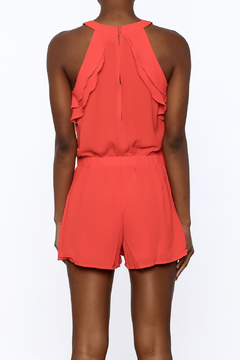 Peace Love California Bold Red Romper - Alternate List Image