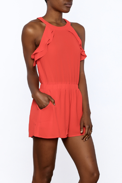 Peace Love California Bold Red Romper - Product List Image
