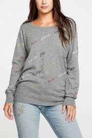Chaser Peace Love Joy Happiness Sweater - Front cropped