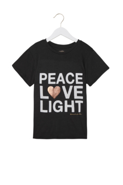 Spiritual Gangster  Peace Love Light Tee - Product List Image