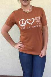OCEAN & 7TH Peace, Love, & Pumpkin Spice tee - Product Mini Image