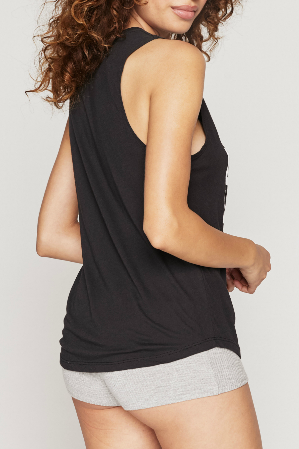 Spiritual Gangster  Peace Muscle Tank - Side Cropped Image